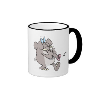 silly trumpet horn elephant tooting trunk ringer mug