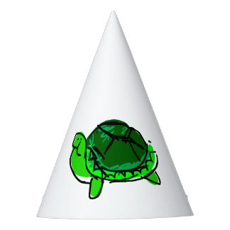 Silly Turtle Doodle Party Hat