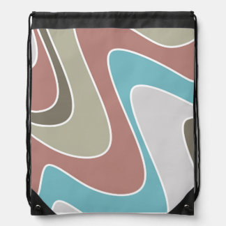 Silly waves drawstring bag