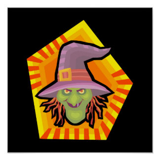 silly witch poster