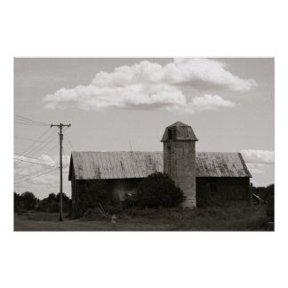 Silo and Barn Poster