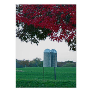 Silos and Red Tree poster