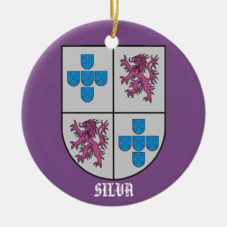 Silva Family Coat of Arms Christmas Christmas Ornament