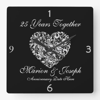 SILVE 25th Anniversary GIFT Wall Clock