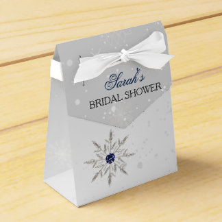 silve snowflakes bridal shower favor box wedding favour box