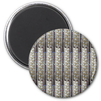 Silve Stripes Template + TEXT QUOTE Image PHOTO 6 Cm Round Magnet