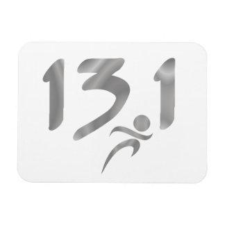 Silver 13 1 half-marathon vinyl magnets