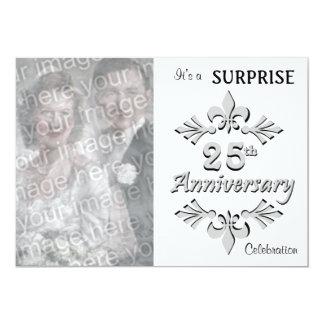 """Silver (25th) Anniversary Party invitations 5"""" X 7"""" Invitation Card"""