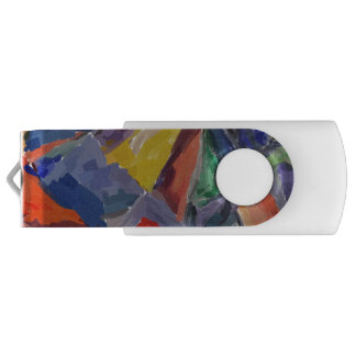 Silver, 8 GB, Black, Abstract USB Flash Drive
