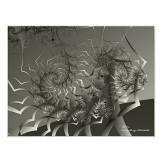 Silver Abstract Art Poster