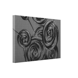 Silver Abstract Balls Canvas Prints