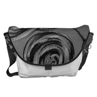 Silver Abstract Balls Commuter Bag