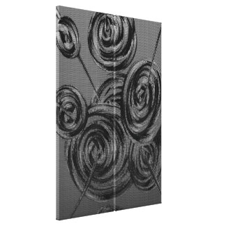 Silver Abstract Balls Stretched Canvas Print