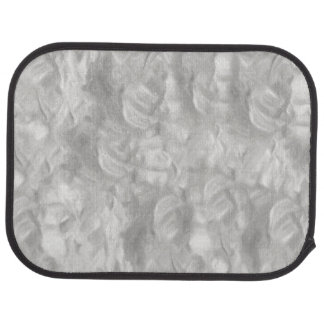 Silver Abstract Car Mat