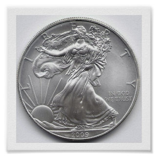 Silver American Eagle Coin Print