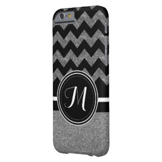 Silver and Black Bling Glitter Personalized Case