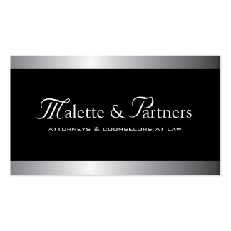 Silver and Black Business Cards