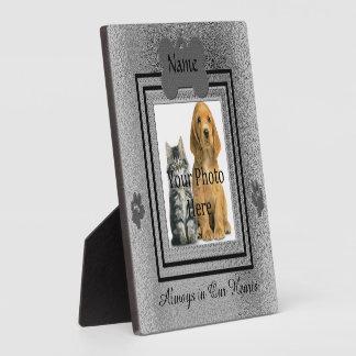 Silver and Black Custom Pet Memorial Plaque