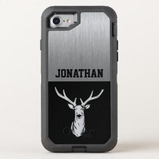 Silver and Black Deer Hunting Monogram Case