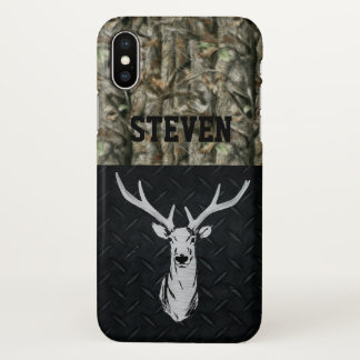 Silver and Black Deer Hunting Phone Case