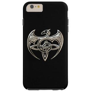 Silver And Black Dragon Trine Celtic Knots Art Tough iPhone 6 Plus Case