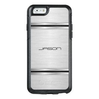 Silver And Black Metallic Design OtterBox iPhone 6/6s Case