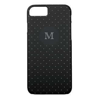 Silver and black Polka Dot Phone case