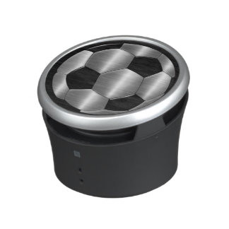 Silver and Black Soccer Ball Bluetooth Speaker