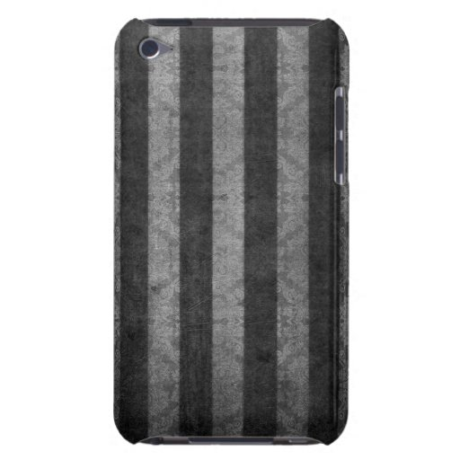 Silver and Black Stripe Design By John iPod Touch Case