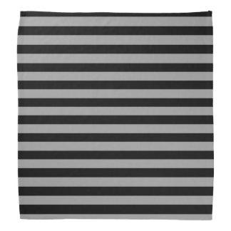 Silver and Black Stripes Bandana