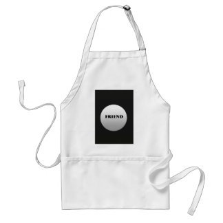 Silver And Black Two Tone Friends Apron