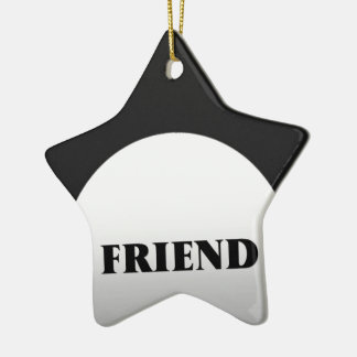 Silver And Black Two Tone Friends Ceramic Star Decoration