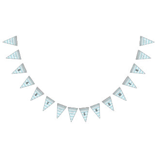 Silver and Blue Baby Shower Banner