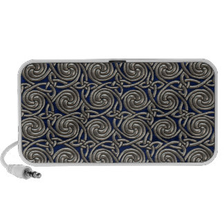 Silver And Blue Celtic Spiral Knots Pattern Speaker System