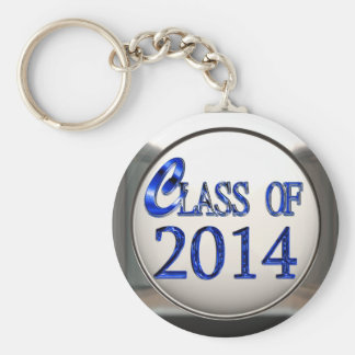 Silver And Blue Class Of 2014 Graduation Keychain