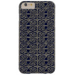 Silver And Blue Connected Ovals Celtic Pattern Barely There iPhone 6 Plus Case