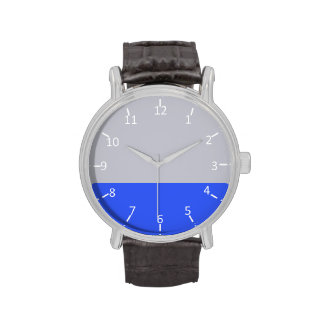 Silver and Blue Wrist Watches