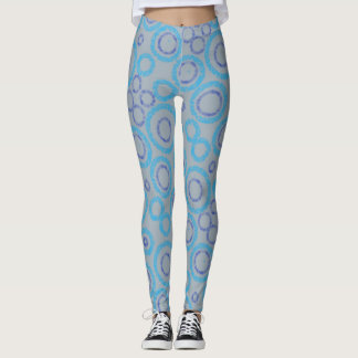 Silver and blue leggings