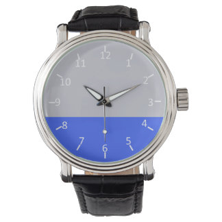 Silver and Blue Wristwatch