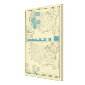 Silver and copper mining regions canvas print