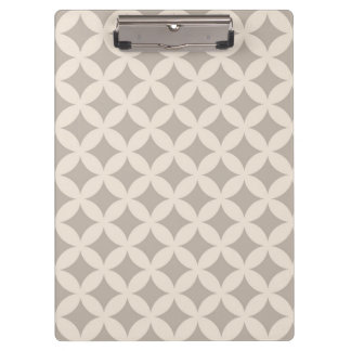 Silver and Cream Geocircle Design Clipboard