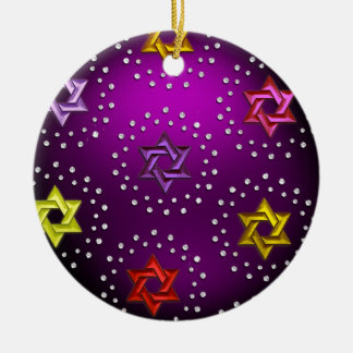 Silver and Crystal Star of David Hanukkah Ornament