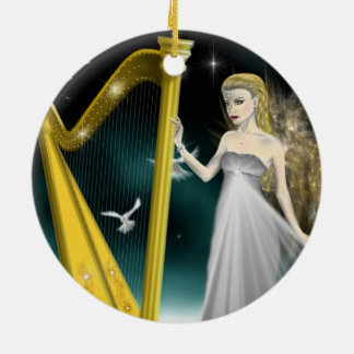 Silver and Gold Angel Circle Ornament