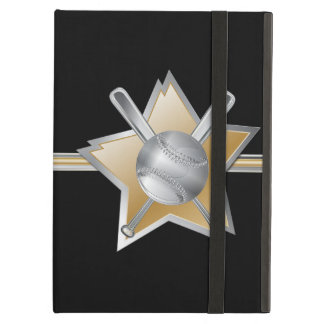 Silver and Gold Baseball and Star iPad Air Cases