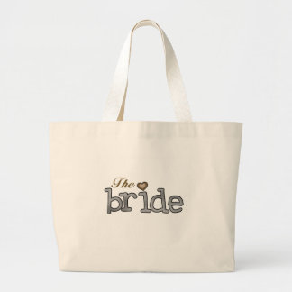 Silver and Gold Bride Jumbo Tote Bag