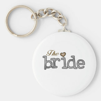 Silver and Gold Bride Key Chain