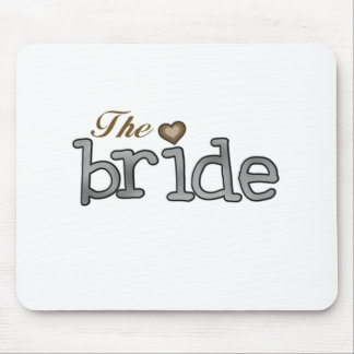 Silver and Gold Bride Mouse Pad