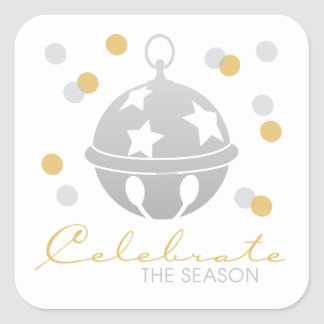 Silver and Gold Celebrate Holiday Stickers