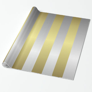 Silver and Gold Christmas Wrapping Paper