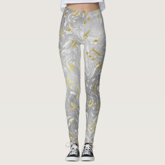 silver and gold colored leggings elegant notes